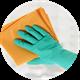 Салфетки, тряпки, перчатки