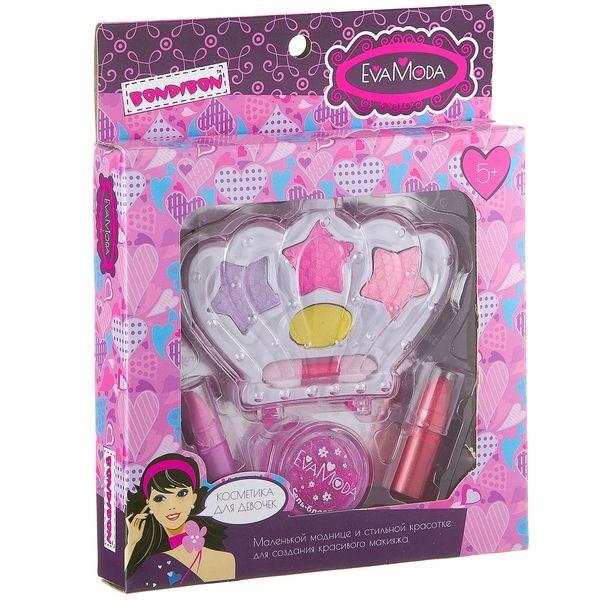 bcd541621696 Подарочный набор для девочек Корона тени и помада Bondibon EvaModa - фото  14039