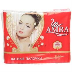 Amra Ватные палочки в пакете 100 шт - фото 10552