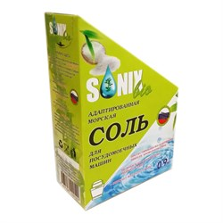 SonixBio Адаптированная морская кристаллическая соль для посудомоечных машин 900 г - фото 11448