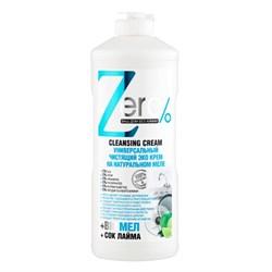 ZERO Эко крем чистящий универсальный на натуральном меле + сок лайма 500 мл - фото 5233