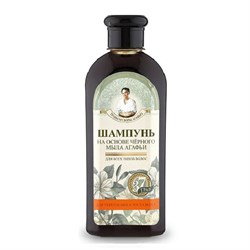 Травы и сборы на черном мыле Агафьи Шампунь для укрепления и роста волос 350 мл - фото 5970