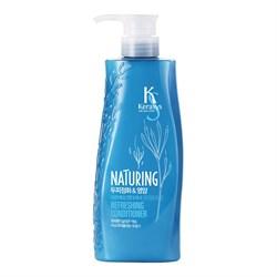 KeraSys Кондиционер для волос Naturing Уход за кожей головы с морскими водорослями 500 мл - фото 6939