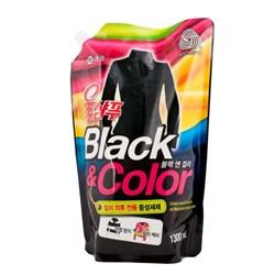 KeraSys Жидкое средство для стирки Черное и Цветное (сменная упаковка) 1,3 л - фото 7017