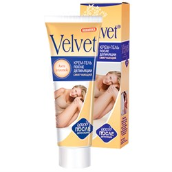 Velvet Крем после депиляции смягчающий с алоэ и хлопком 100 мл - фото 7176