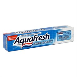 Aquafresh Зубная паста 3+ Освежающе-мятная 50 мл - фото 7318