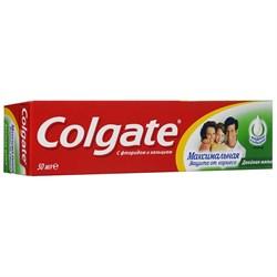 Colgate Зубная паста Максимальная защита от кариеса Двойная мята 50 мл - фото 8455