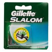 Gillette Slalom Cменные кассеты для бритья со смазывающей полоской 3 шт