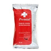 Premial Влажные салфетки антибактериальные 15 шт