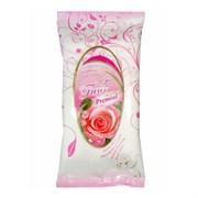 Premial La Fleur Влажные салфетки очищающие с ароматом розы 15 шт
