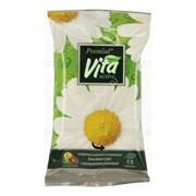 Premial Vita Active Влажные салфетки освежающие с экстрактом ромашки 15 шт
