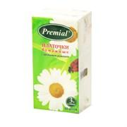 Premial Платочки бумажные с ароматом ромашки 1 блок*10 шт