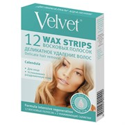 Velvet Восковые полоски для лица Деликатное удаление волос 12 шт