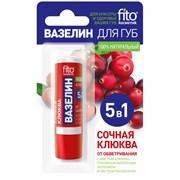 Фитокосметик Вазелин для губ Сочная клюква от обветривания 4,5 г