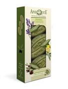 Aphrodite Набор мыла оливкового Ароматные травы. 3 куска: с лавандой с шалфеем и лимоном оригинальное без отдушек  255 гр