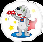 Гель-пена для душа Собака в плаще и с маской 60 мл