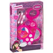 Подарочный набор для девочек Косметичка круглая с зеркальцем Bondibon EvaModa
