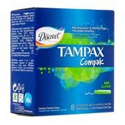 Tampax Compak Тампоны женские гигиенические с аппликатором Super 8 шт