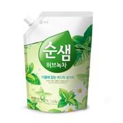 KeraSys Средство для мытья посуды Зеленый чай (запаска) 1,2 л
