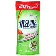 Mama Lemon Гель для мытья посуды и детских принадлежностей зеленый чай 600 мл запаска