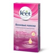 VEET Восковые полоски для чувствительных участков тела (линия бикини и область подмышек) с ароматом бархатной розы и эфирными маслами 14 шт.