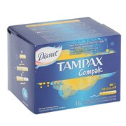 Tampax Compak Тампоны женские гигиенические с аппликатором Regular duo 16 шт